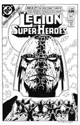 Legion of Super Heroes #294 Cover Recreation