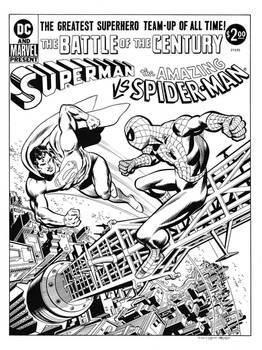 Superman Vs. Spider-Man Cover Recreation