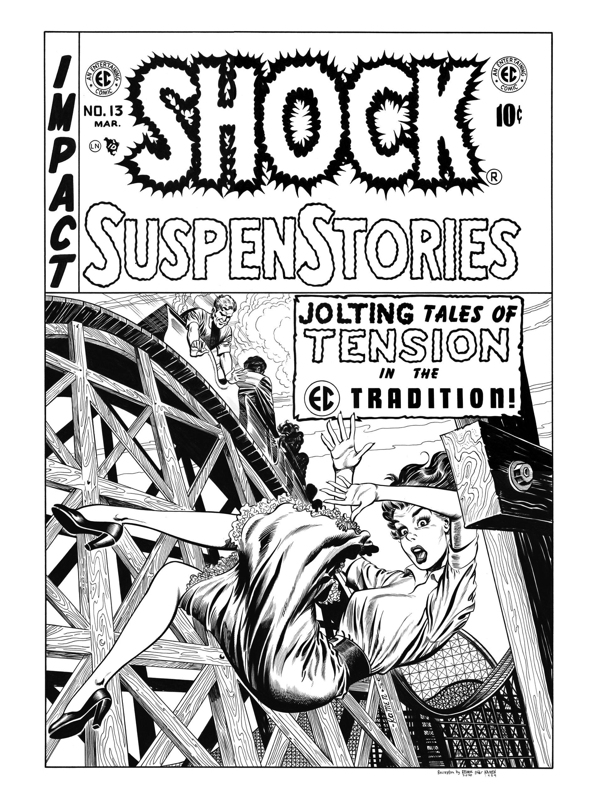 Shock SuspenStories #13 Cover Recreation