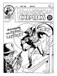 All-American Comics #16 Cover Recreation