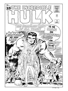 Hulk #1 Cover Recreation