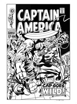 Captain America #106 Cover Recreation