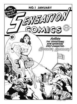 Sensation Comics #1 Cover Recreation