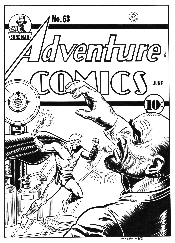 Adventure Comics #63 cover recreation