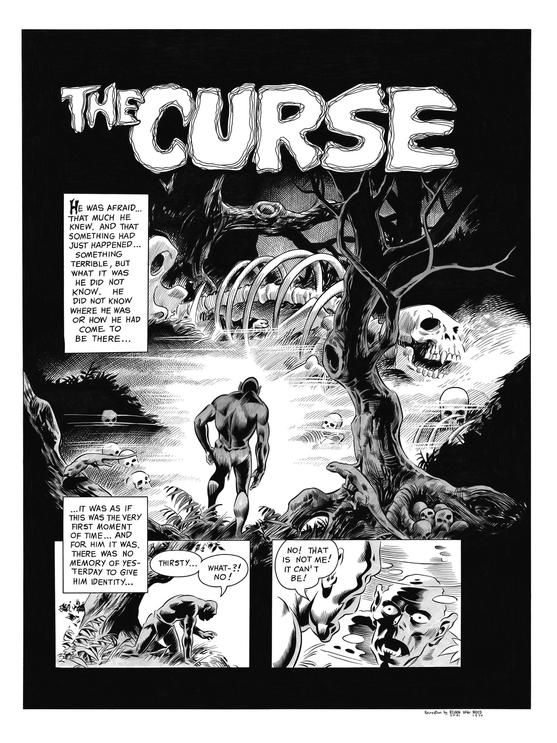 Wally Wood - Curse page 1 recreation, Vampirella 9