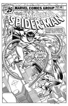 Amazing Spider-Man #157 Cover Recreation