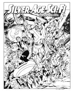 Silver Age Sci Fi Companion cover recreation