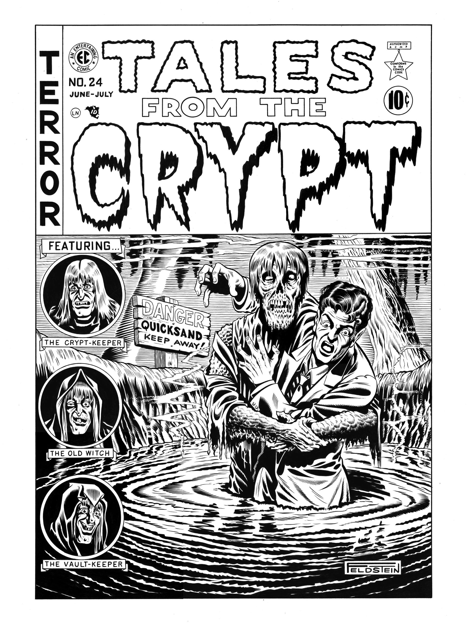 Tales from the Crypt #24 Cover Recreation