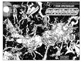 Crisis on Infinite Earths #1 cover recreation