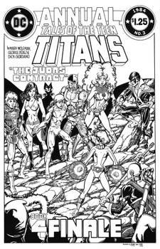 New Teen Titans Annual #3 cover recreation