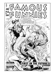 Famous Funnies #210 Cover Recreation