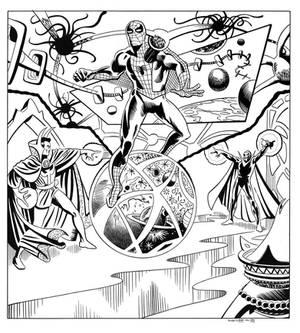 Spiderman Annual 2 Splash panel recreation
