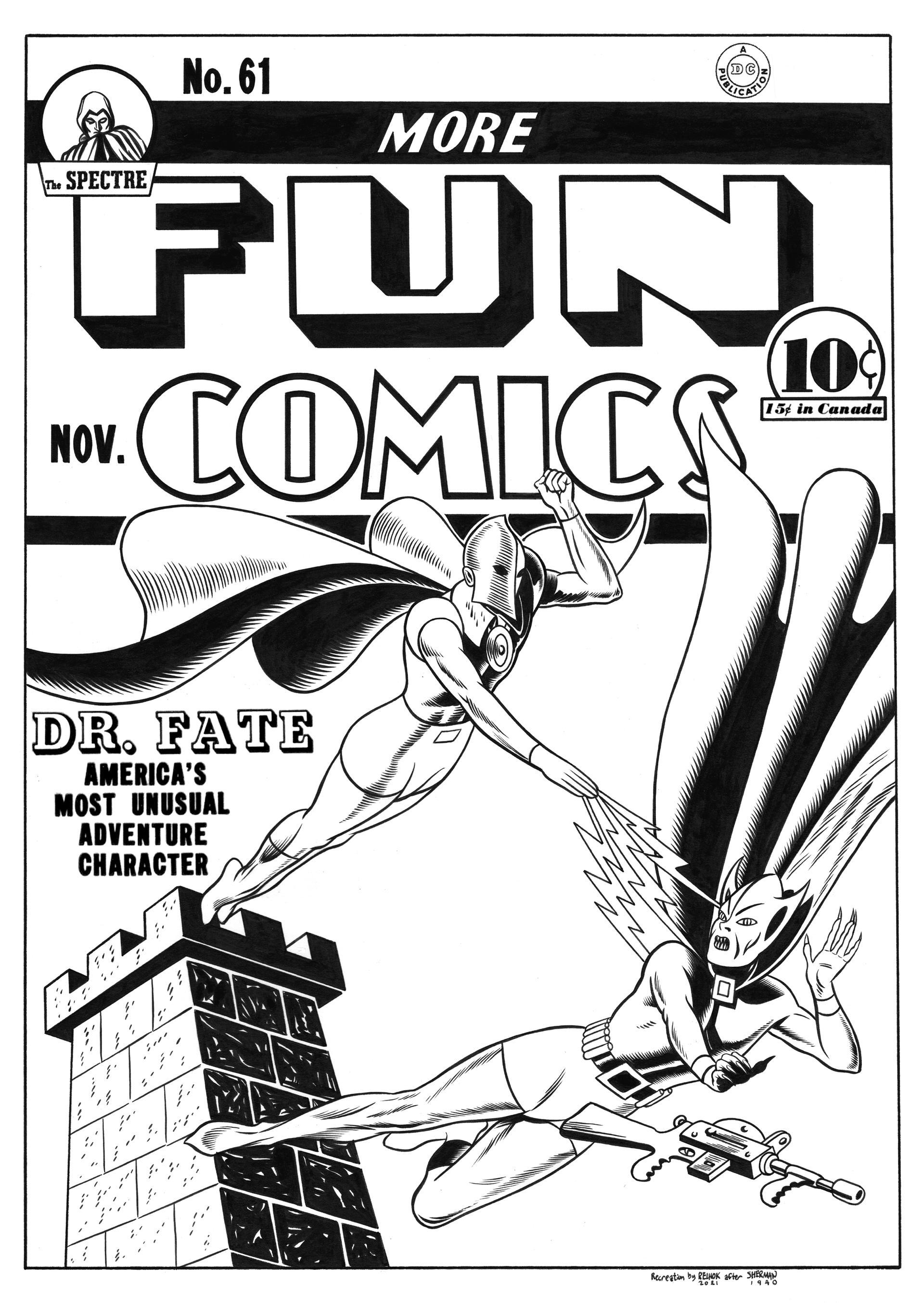 More Fun Comics #61 Cover Recreation
