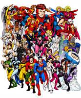 Legion of Super Heroes, Color by dalgoda7