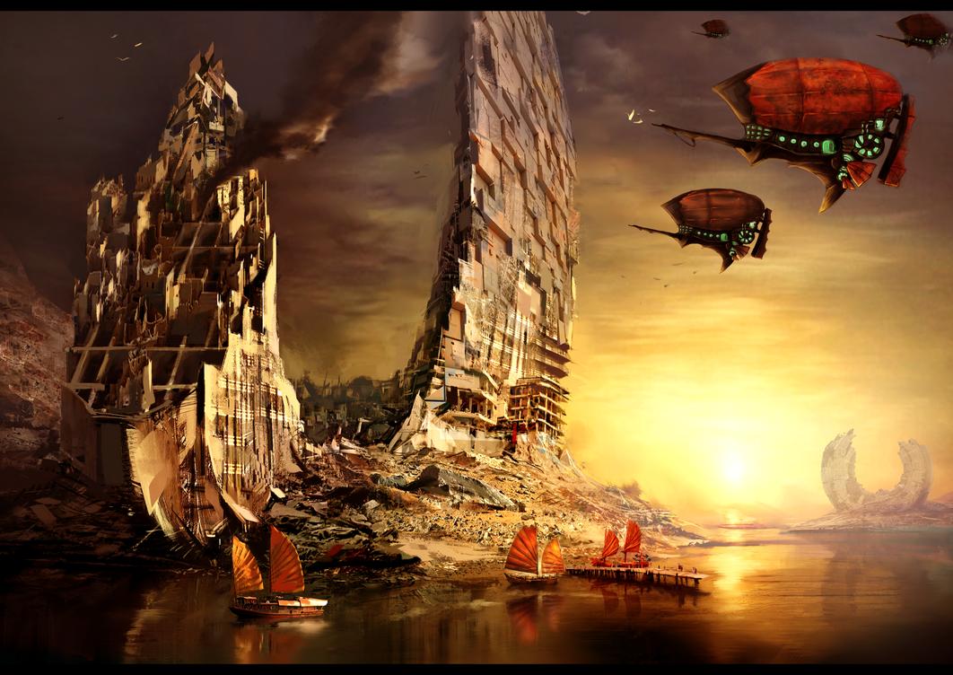 GW2 MOCKUP: Airship's in Orr by Sealreth