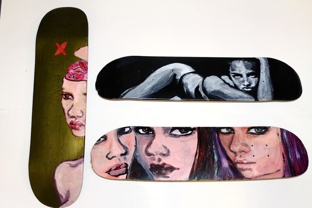 some old skateboards by kistaham