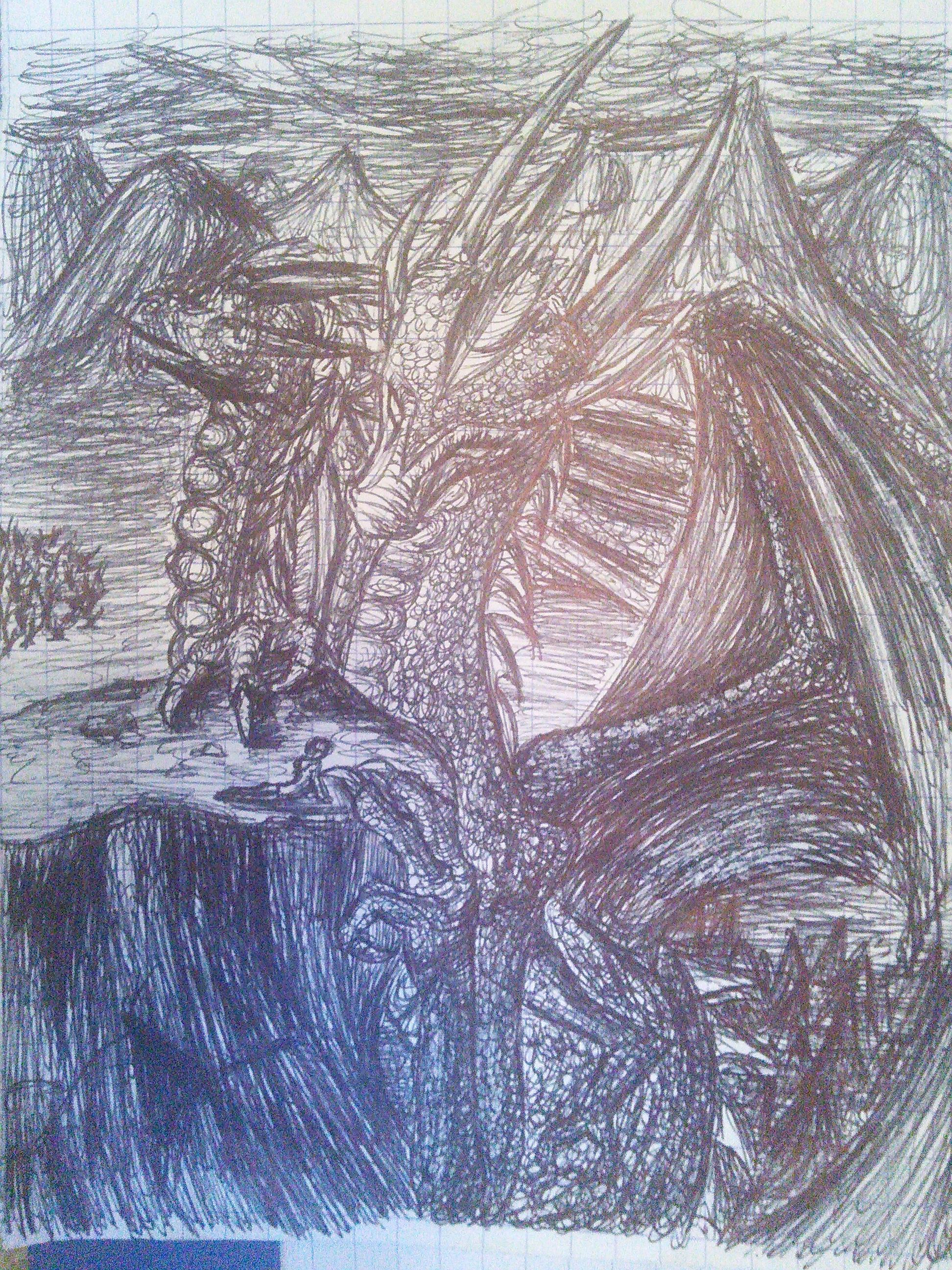 Doodle - Dragon I by paenkeks