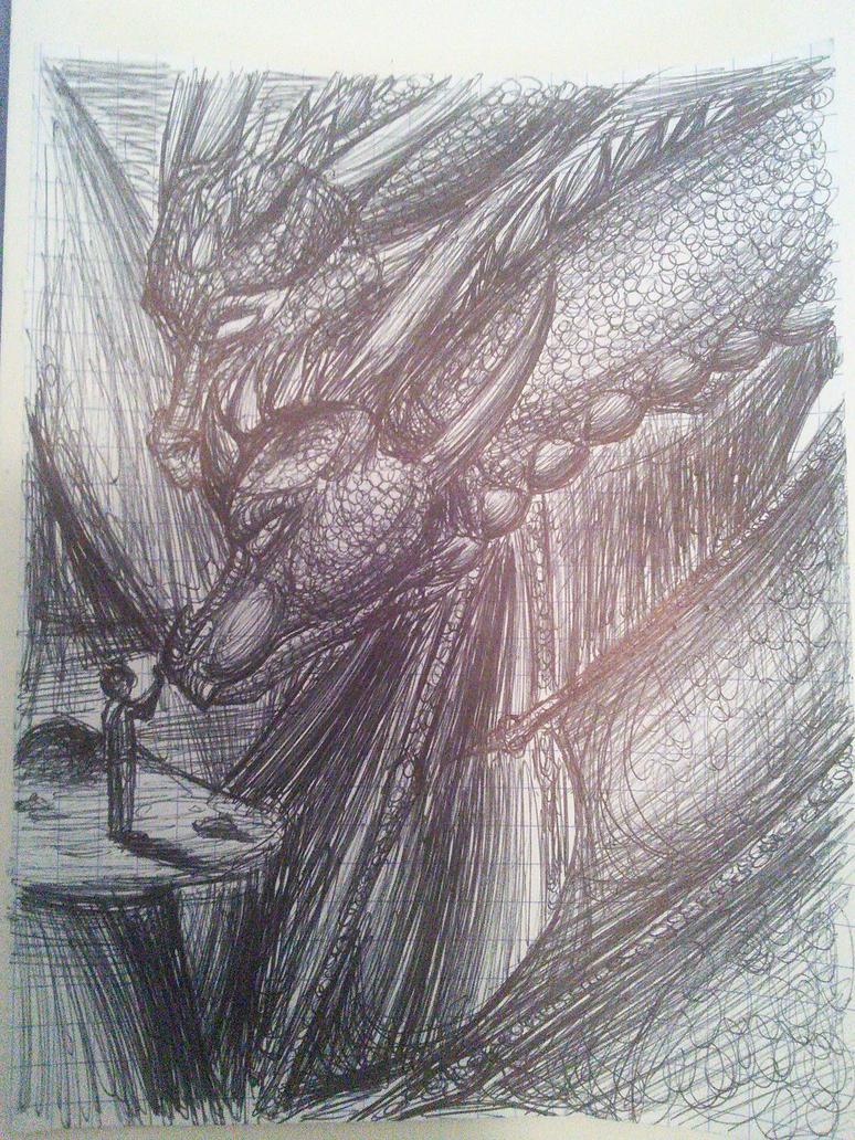 Doodle - Dragon II by paenkeks