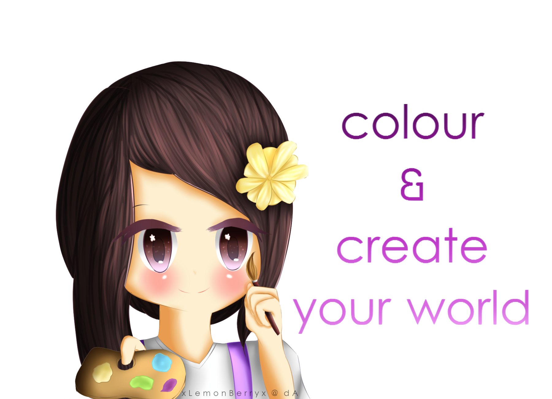 Colour and create your world speedpaint by lemonberriie - Create your world ...