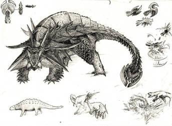 Hyperendocrin ankylosaurus by Aykwan