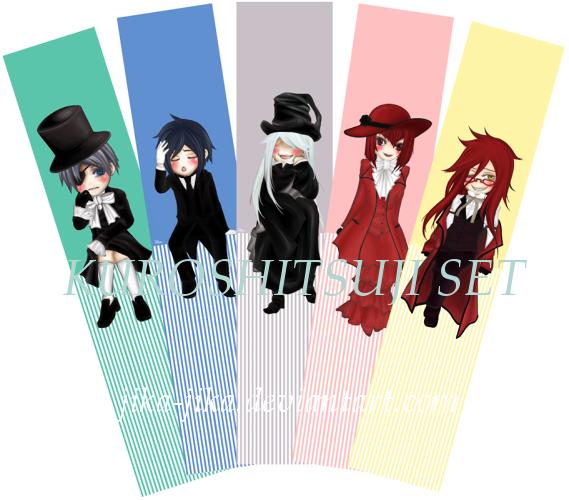 Bookmark: Kuroshitsuji set by Jika-Jika