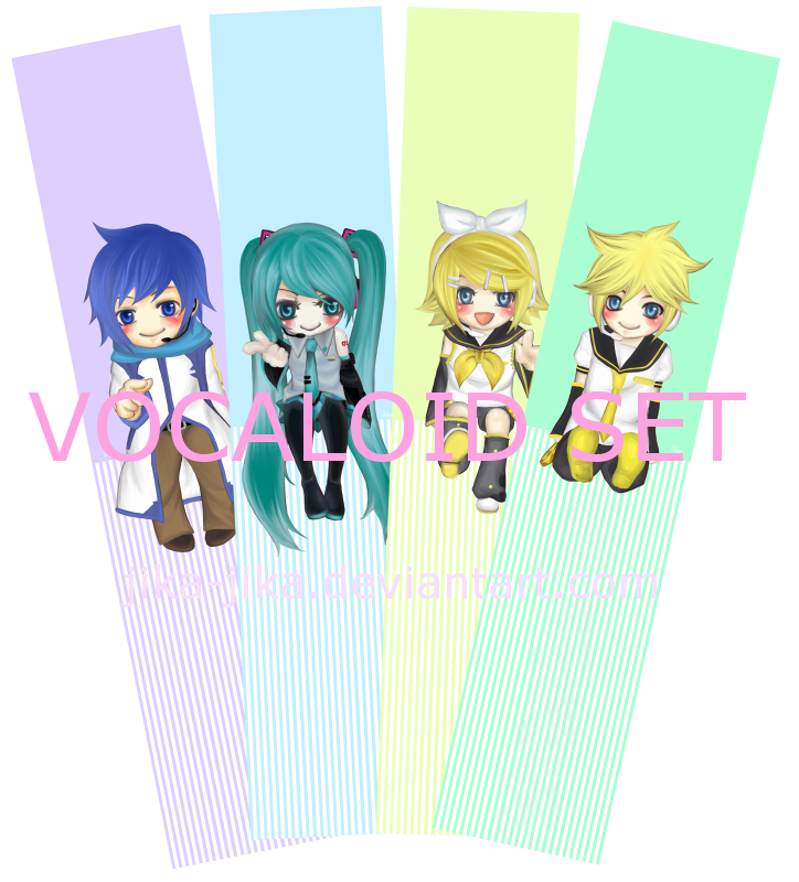 Bookmark: Vocaloid set by Jika-Jika
