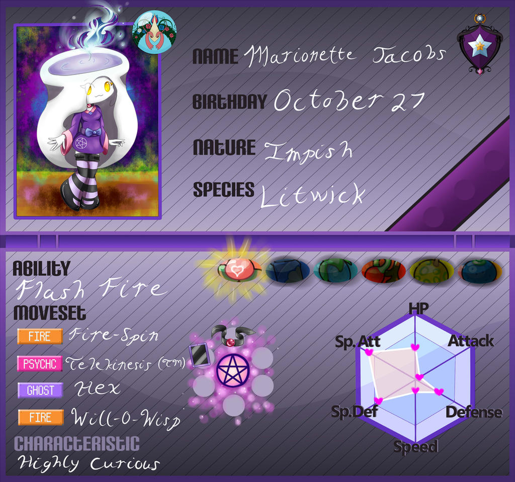 Marionette PKMN-Armonia Application by DreamingMystic