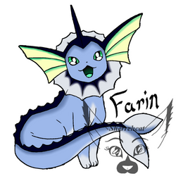 Farin the Vaporeon by sherrehcat
