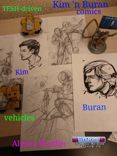Kim n Buran sketches by Dlordtesh