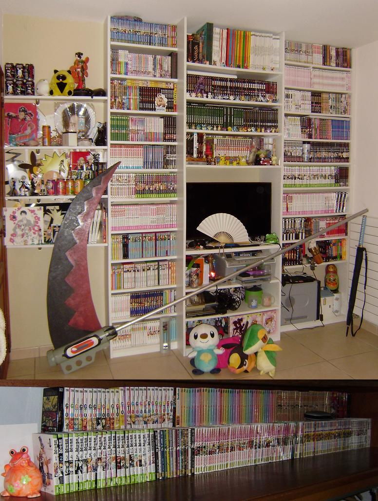 Chambre d 39 otaku v3 by nouky on deviantart for Chambre otaku