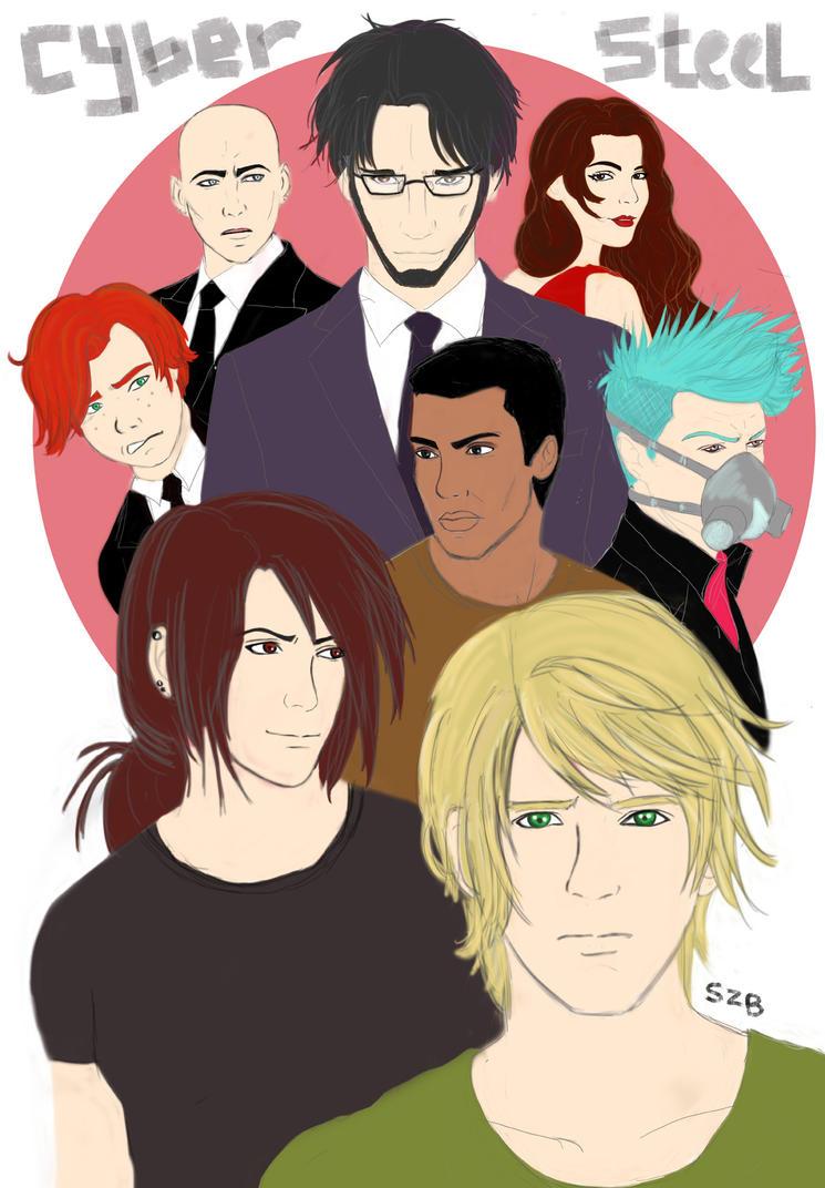 CyberSteel Cast by sasyazuzu