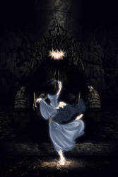 Luthien Before the Throne by neffinesse