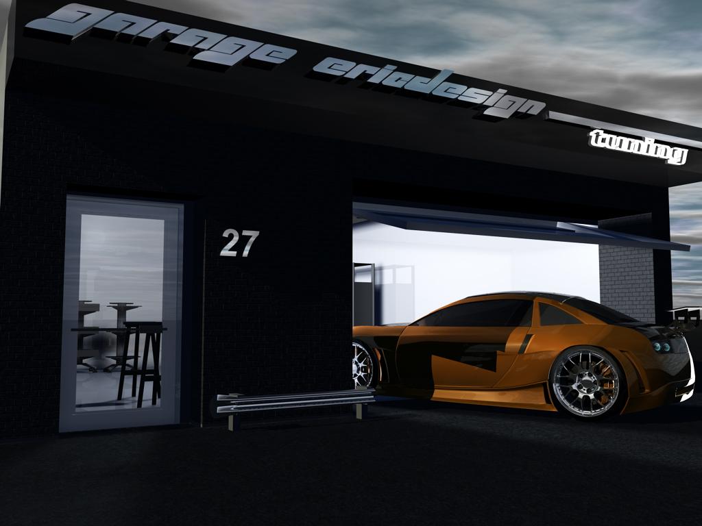 Tuning garage by 3dericdesign on deviantart for Garage tuning marseille