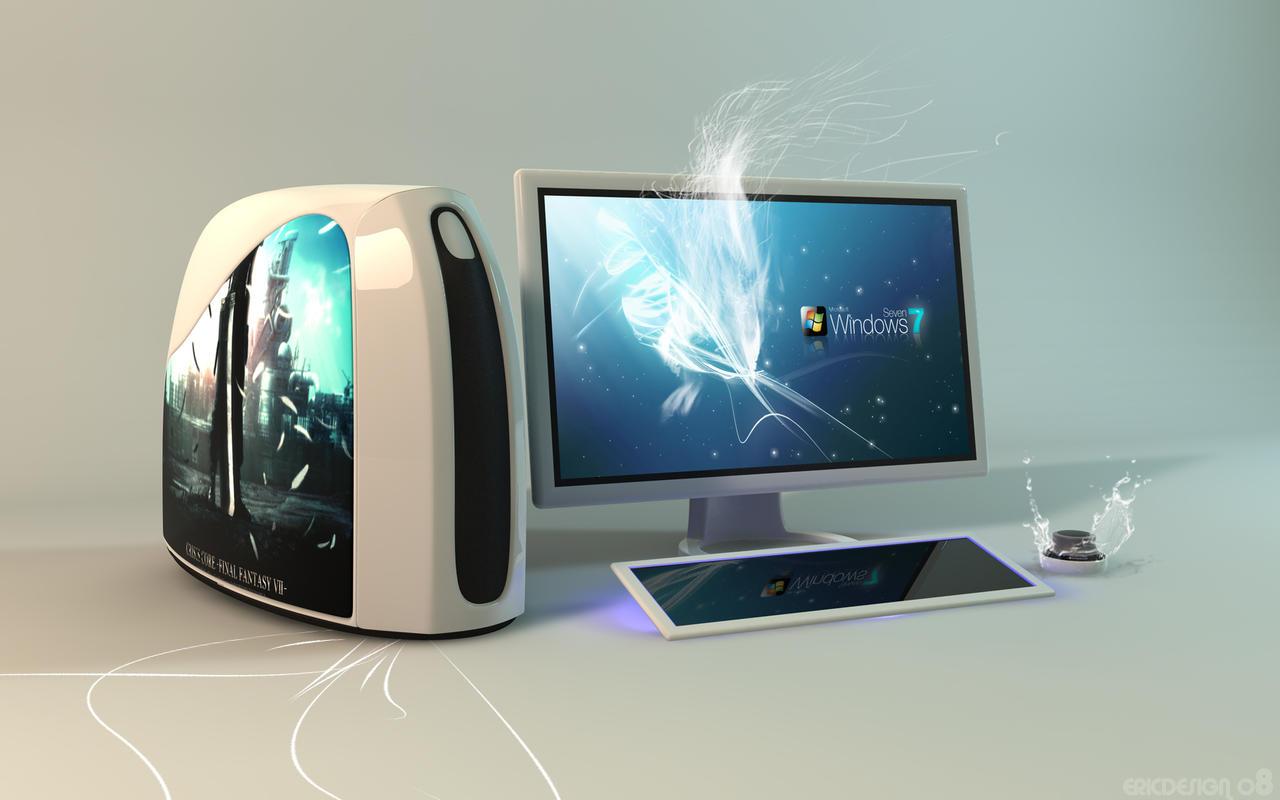concept computer windows 7