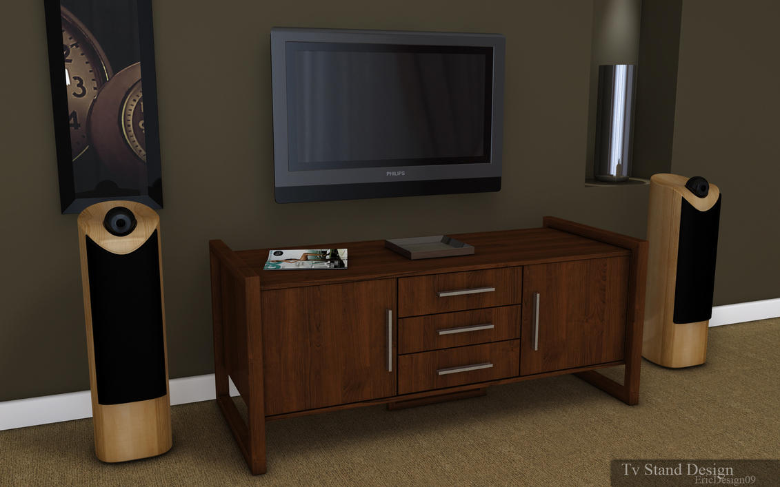 Tv stand design by 3dericdesign on deviantart for Th 37px60b table top stand