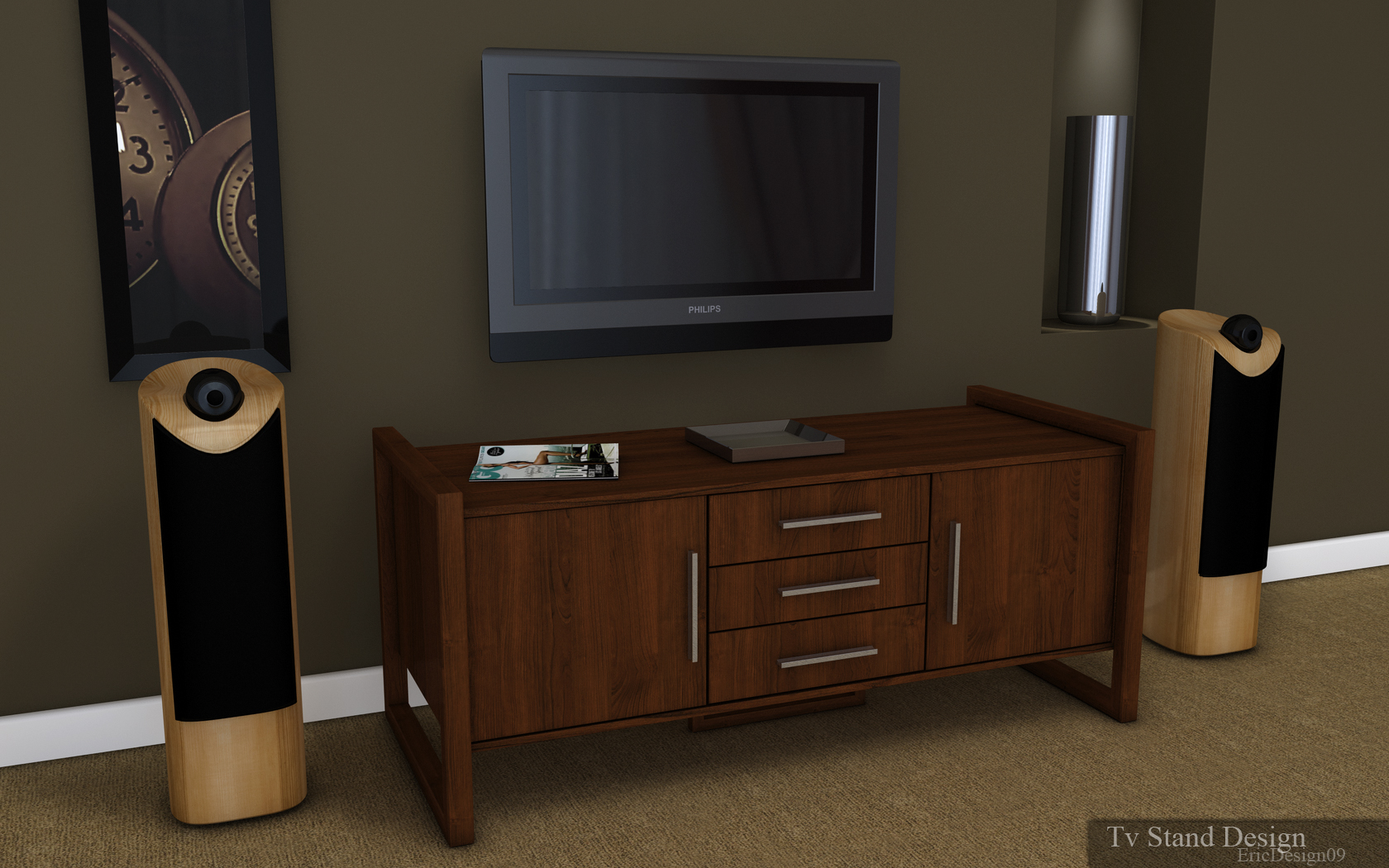 Tv stand design by 3DEricDesign on deviantART