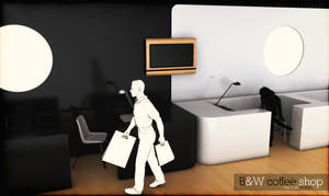 B W coffee shop by 3DEricDesign