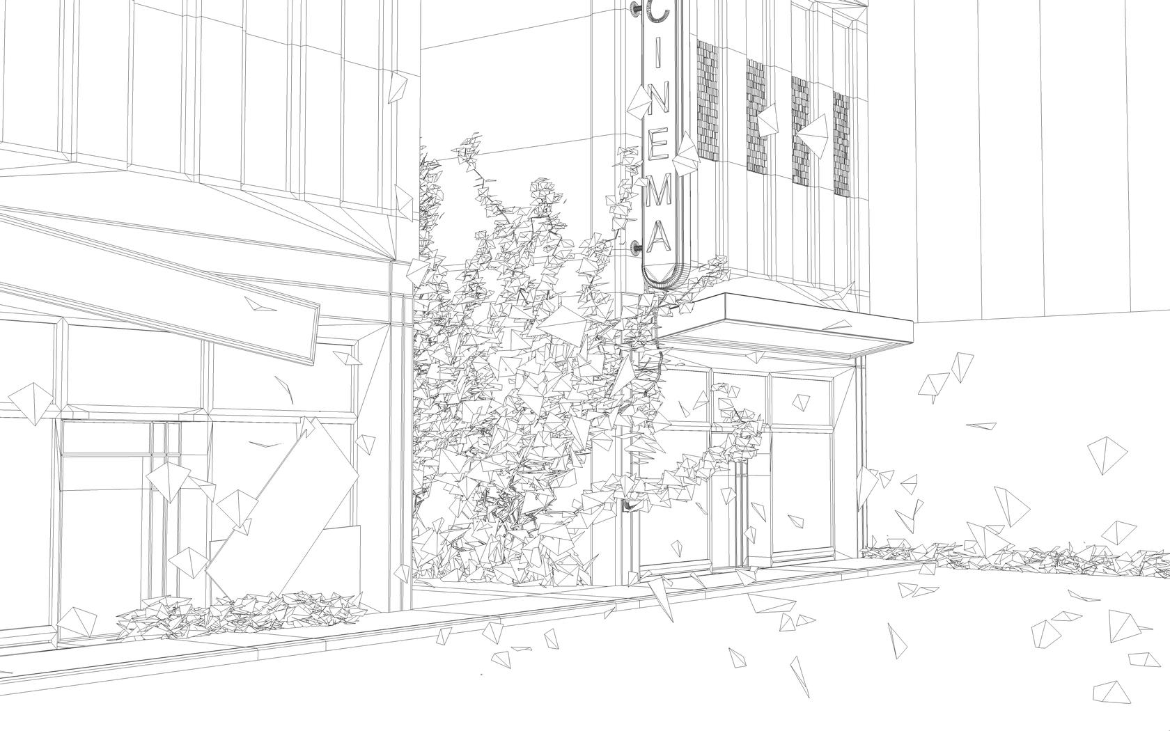 line art city street final by 3DEricDesign on DeviantArt