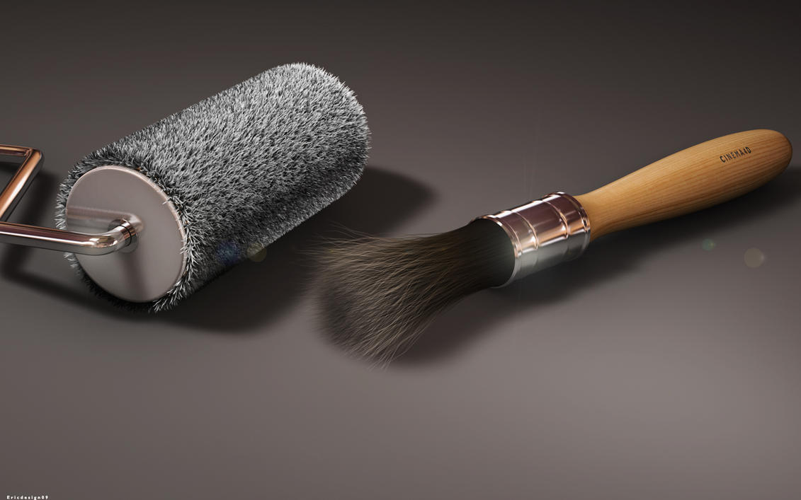 Duo Brush  wallpaper > 3d Papel de parede > 3d Fondos