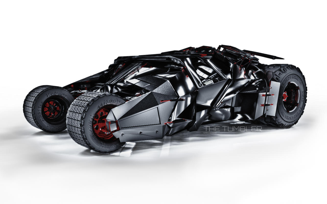 3D Batmobile Tumbler by 3DEricDesign