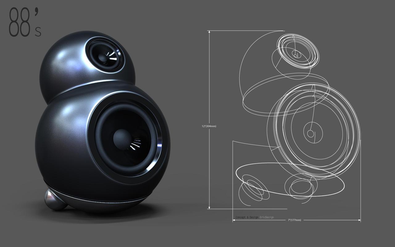 88 speaker design3dericdesign on deviantart