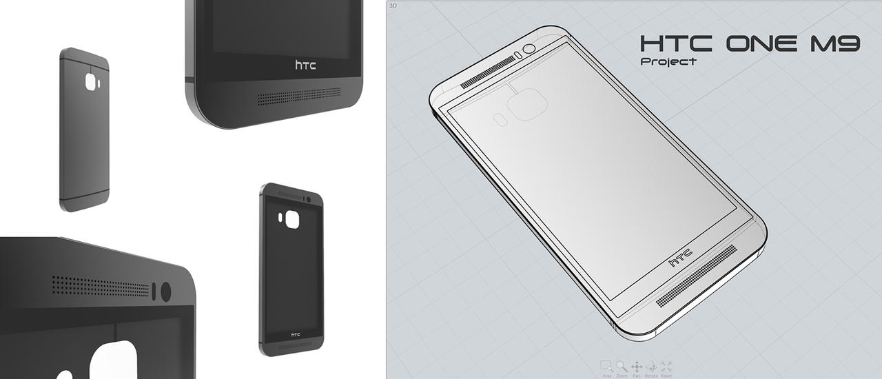 HTC ONE M9 Project EricDesign by 3DEricDesign
