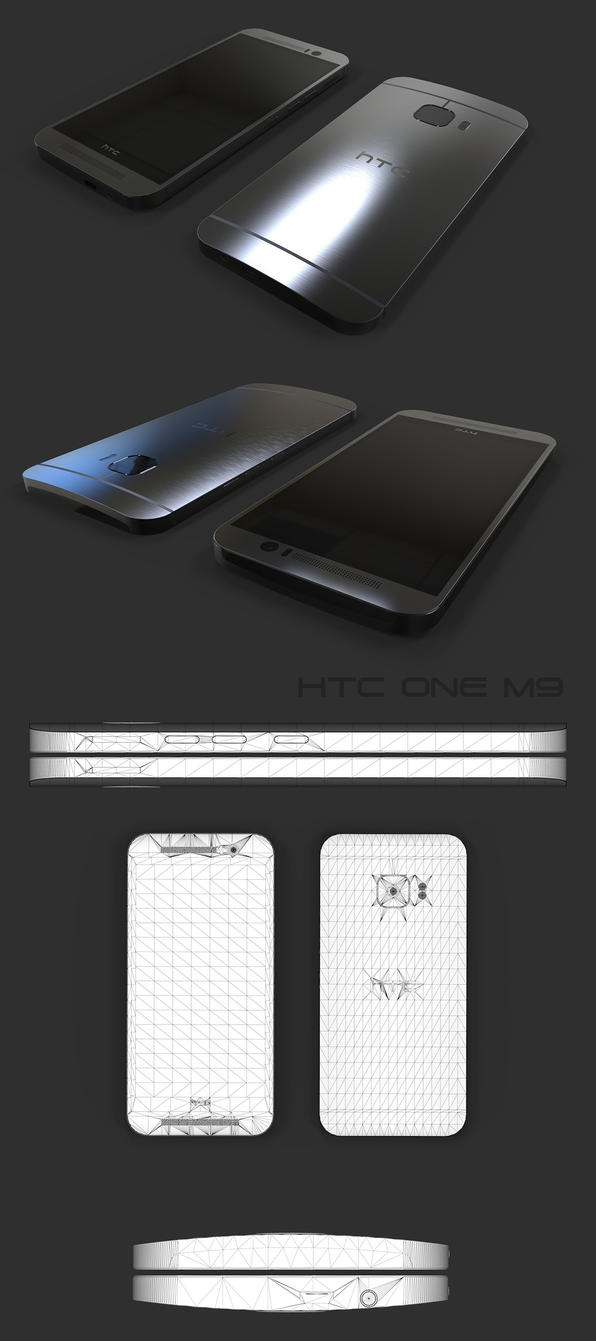 HTC-ONE-M9-cm-final by 3DEricDesign