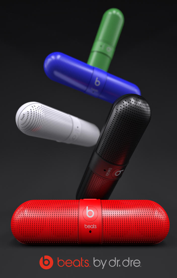 Beats-Pill-colors by 3DEricDesign