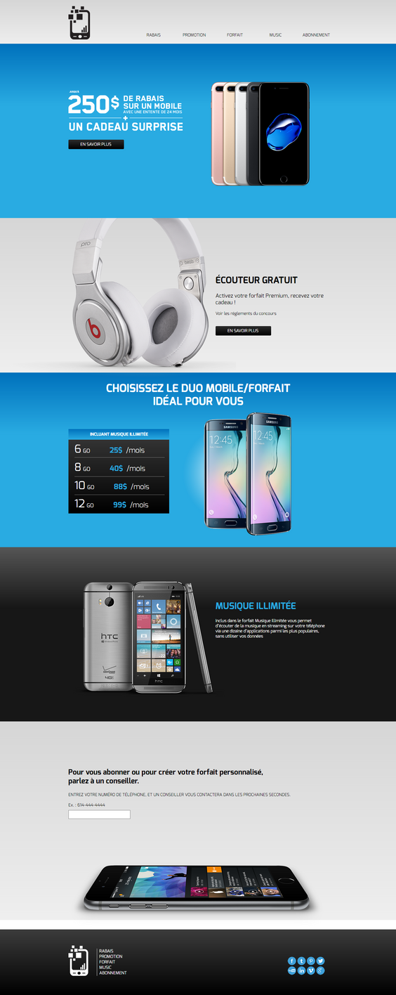 muse template cell phone company by 3DEricDesign