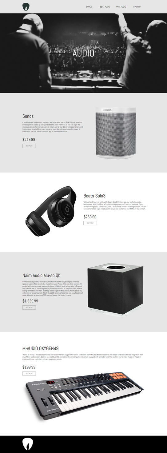 free AUDIO-WEBSITE-TEMPLATE by 3DEricDesign