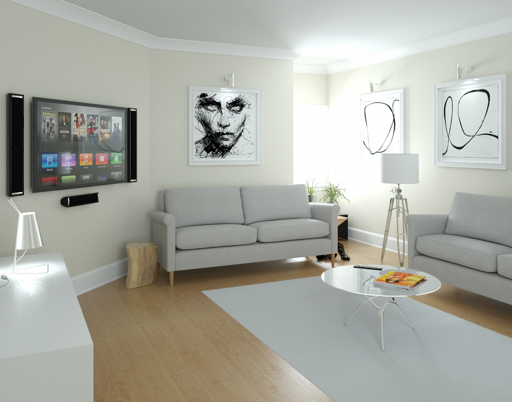 Living-room by 3DEricDesign
