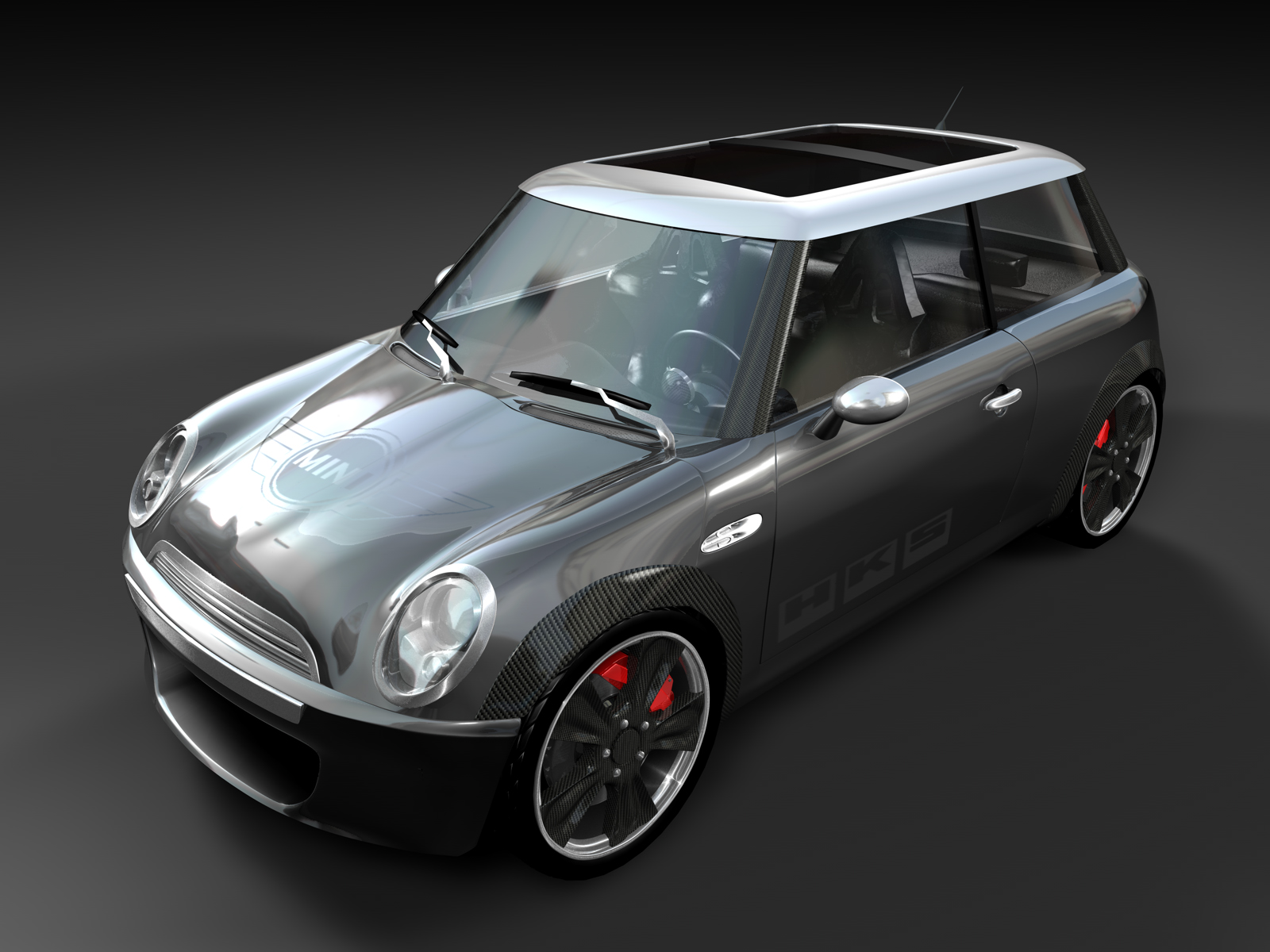 minicooper darkgrey wall by 3DEricDesign