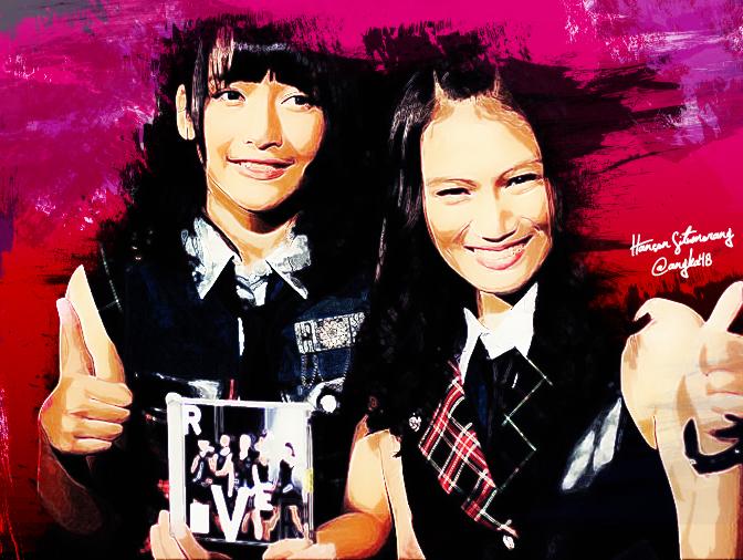 Kinal dan Melody JKT48 by SaintOfArt