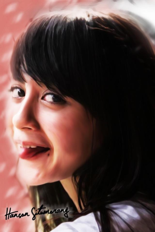 Nabilah JKT48 Smudge Painting  Nabilah Jkt48 2014 Wallpaper